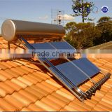 Evacuated Tube Heat Pipe Compact Pressurized Solar Water Heater with Stainless Steel Inner Tank