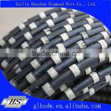 fast cutting speed and long life time diamond wire saw rope for granite quarry cutting 11mm