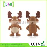 gift pvc Christmas tree usb flash drive, 32 gb usb Christmas, Christmas deer shape usb 1tb