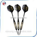 Darts 24 Grams, Brass Barrels And Features Steel Tips, 6 Aluminum Shafts, 3 PET Flights.
