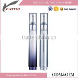 Cosmetic syringe airless bottle for eye cream