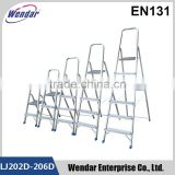 High Quality 2-8 Steps Household Ladder With EN131 /TUV GS certificate aluminum folding ladder