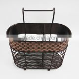 woven decoration kitchen metal shelf BS2008