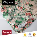 Custom-made fashion printing silk linen fabrics textiles from China