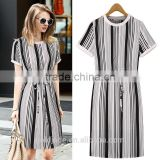 2016 latest plain dress for fat women with short sleeve,plus size/over size women casual dress for summer