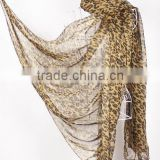 new design ladies leopard printed scarf