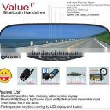 Rearview Mirror Car Recorder In Car Bluetooth DVR Kits With Reversing Sensors System