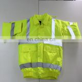 Apparel Roadway PVC Reflective HI VIS Motorcycle Jacket