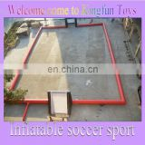 Most popular inflatable bubble football field/ inflatable soap soccer playground