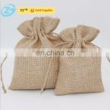 Promotional Festival Gift Packaging Jute Burlap Drawstring Bag For Jewelry