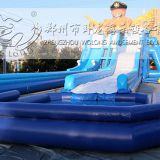 inflatable water slide, inflatable water slide pool, water pool slide