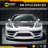 HM style front bumper car tuning bumper auto parts wide body kit for 970 2010-2013