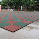 Supply of rubber floor tiles premium outdoor rubber safe floor mat community school kindergarten plastic floor mat