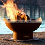 Wood Burnings Geometric Corten Steel Fire Pits