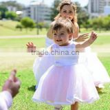 Kids Boutique Clothing Layered Lace Flower Girls Puffy Free Prom Party Wedding Dress Mother and Daughter Tutu Dress