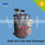 Durable PP Titanium Tube and Shell Heat Exchanger for Spa Pool