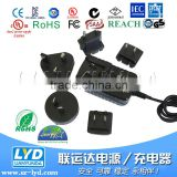 Universal Interchangeable AC plugs 12V 3A power adapter on sale