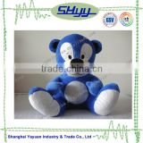 Lovely big blue bear sitting plush toy