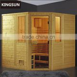 Freestanding Wooden Dry Sauna Room Infrared Sauna Room For 6 Persons