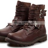 "Men's 8"" Valor Soft Toe string adjustable genuine leather Duty Combat wide brown Boots"
