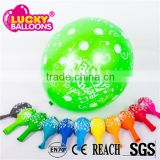 Latex balloons manufacturers EN71 approved 12'' 3.2g printable happy birthday balloon