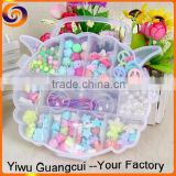 2015 New plastic animal head box diy beads set                                                                         Quality Choice