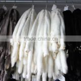 Luxury White real Mink fur wholepieces Skin and Fur pelt For gorgeous coats of women