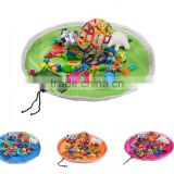 Portable large size toy storage bag children play mat toys organizer bag