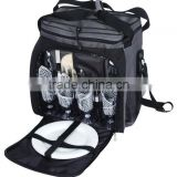 Custom two tone cooler picnic bag backpack for food