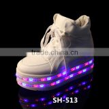 Alibaba top product nightclub simulation led shoes sports lace-up shoes for party new product for dancing