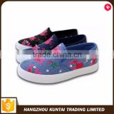 Promotional top quality custom printed canvas shoes