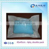 EO sterile double paper package medical surgical lap sponge