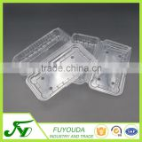 Customized thermoforming folded PET plastic blister clamshell for strawberry fruits container