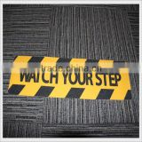 "6"" X 24"" Tread Black and Yellow Adhesive Anti Slip Non Skid Abrasive Safety Tape WATCH YOUR STEP"