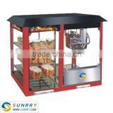 Used popcorn machines for sale with warming showcase CE approved industrial hot air popcorn making machine (SUNRRY SY-PM8W)