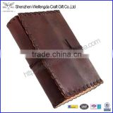 2016 handmade top grade real leather diary with string