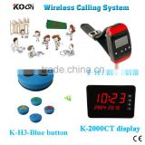 Waiter Pager System Koqi Factory Best Price Of Touch Display With Wrist Watch Pager And 100% Waterproof Call Button Bell 433.92