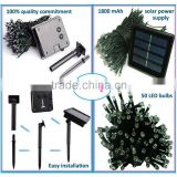 Fullbell Decorative LED Solar Power String Twinkle Light 22.97ft 50 LED Light Sting 8 Flash Modes for Garden Patio Colorful