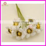 2~3CM artificial fake sunflower bouquets,tissue Paper flowers,silk gerbera daisy for wedding accessories decoration,scrapbooking