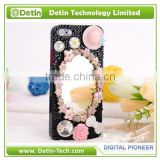 Plastic Parts and Mirror stick-on hard phone cover case - Make your own design for any phone models
