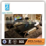 Matel Frame tv Table Glass top tv Cabinet with MDF Drawer Modern TV Stand Home Furniture TV503A