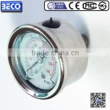 All stainless steel anti-corrosion gauges pressure manometer , gauge pressure measuring instruments YBF-40D