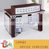 high quality melamine wooden office reception counter table with aluminum
