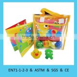 Top quality eco-friendly foam bath book with toy set