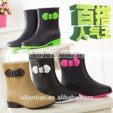 ladies winter boots for PVC rain boots women's ankle rubber boots                                                                                                         Supplier's Choice