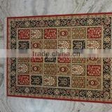 Woolen Area Rug India, Beautiful carpet multi pattern red color . traditional Indian Pattern