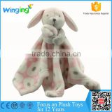 2016 alibaba china factory Plush Rabbit Bunny Soft Baby Comforter Toy