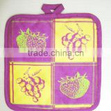 printed cotton pot holder for promotion and kitchen