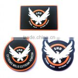 50 PCS Game Airsoft Cosplay PVC Patch The Division SHD Wings Out Badge Morale Military Armband Tactical Rubber Patches