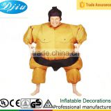 DJ-CO-140 gold japanese Inflatable Sumo Costume for adults with Battery Operated Fan